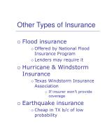 other types of insurance