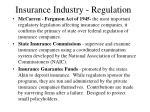 insurance industry regulation
