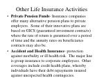other life insurance activities10