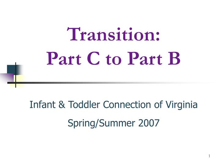 transition part c to part b n.