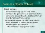 business floater policies