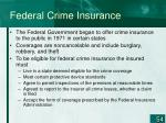 federal crime insurance