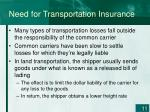 need for transportation insurance