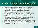 ocean transportation insurance