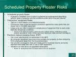scheduled property floater risks