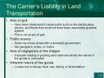the carrier s liability in land transportation10