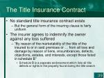 the title insurance contract