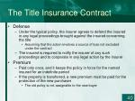 the title insurance contract40