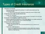 types of credit insurance