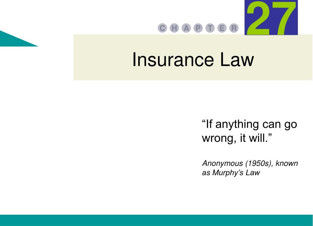 insurance law l.