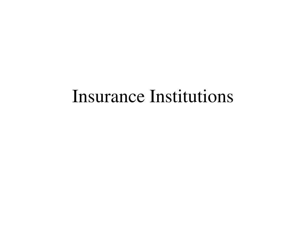 insurance institutions l.