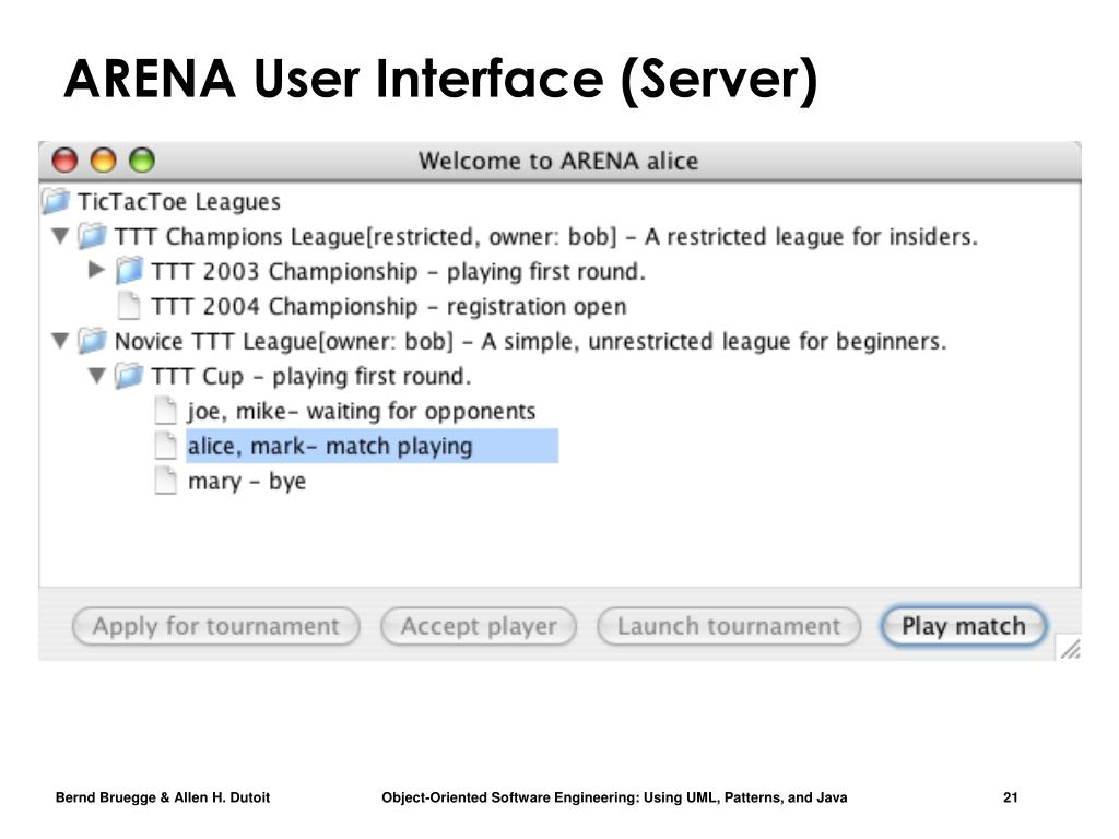 ARENA User Interface (Server)