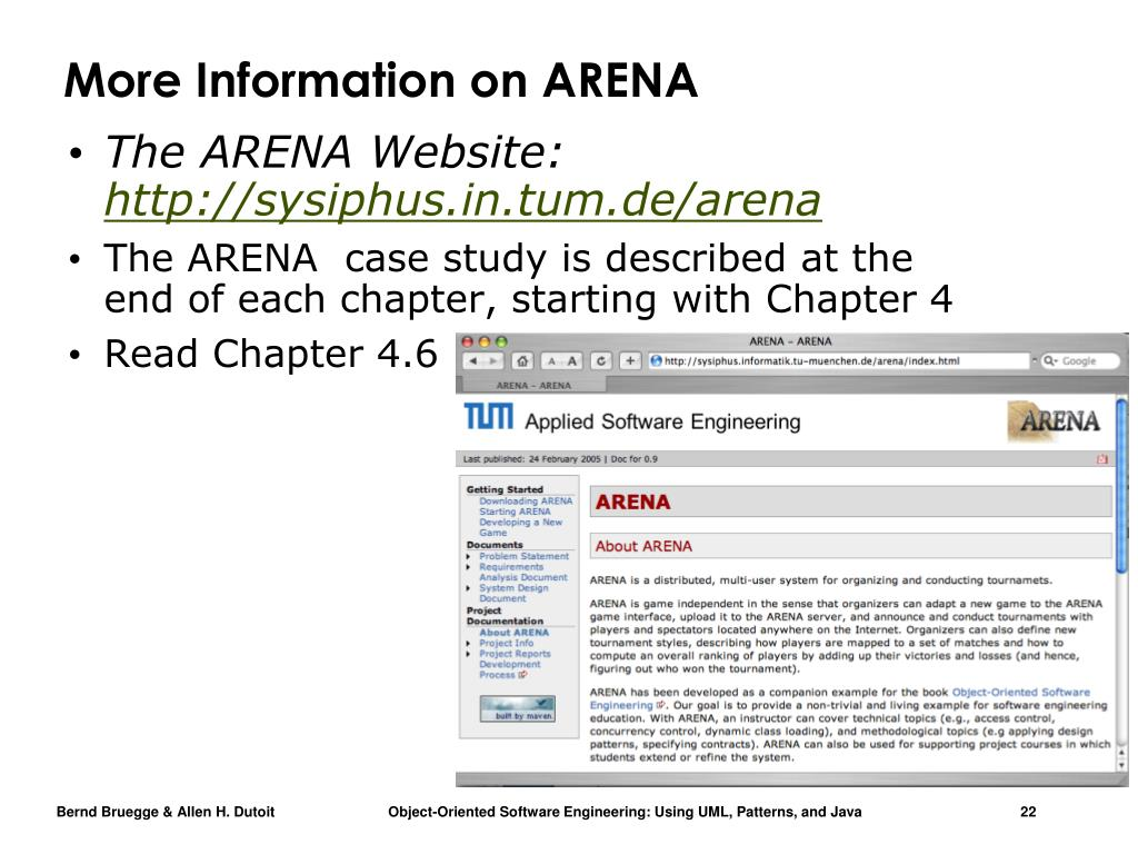 More Information on ARENA