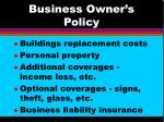 business owner s policy