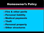 homeowner s policy