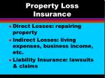 property loss insurance