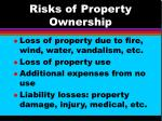 risks of property ownership