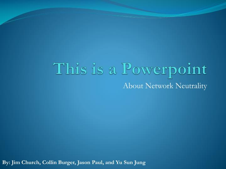 this is a powerpoint n.