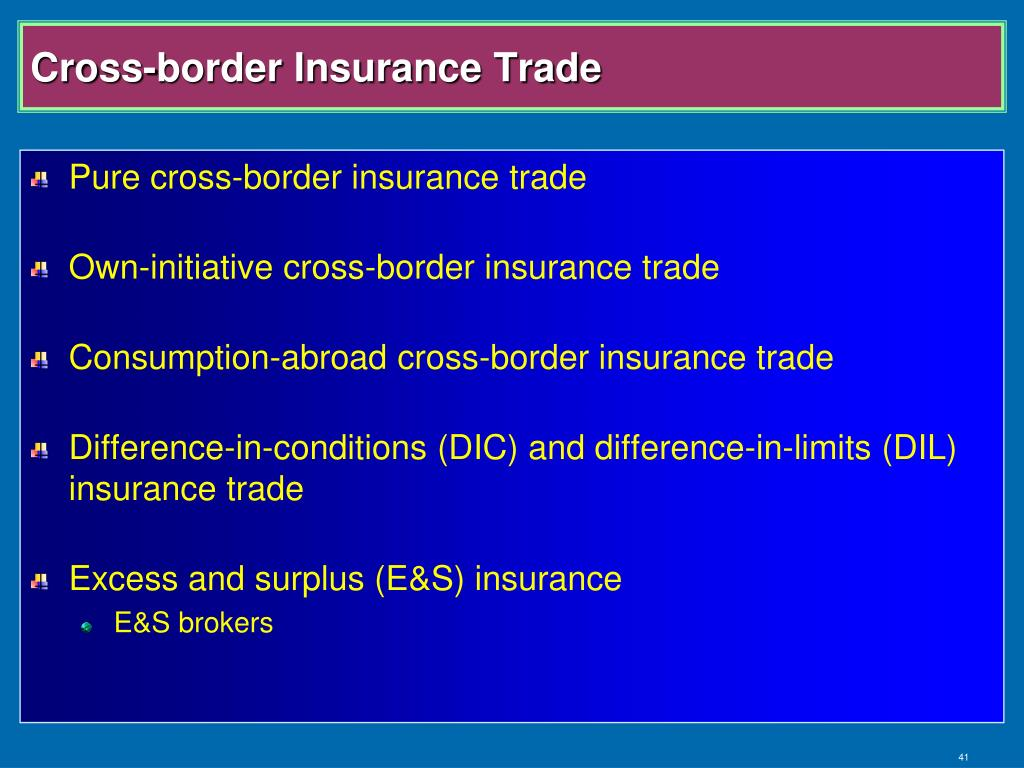 Cross-border Insurance Trade