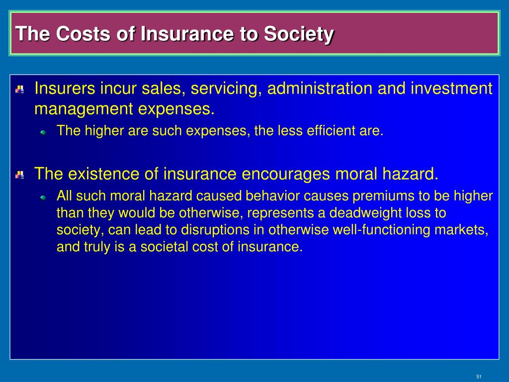 The Costs of Insurance to Society