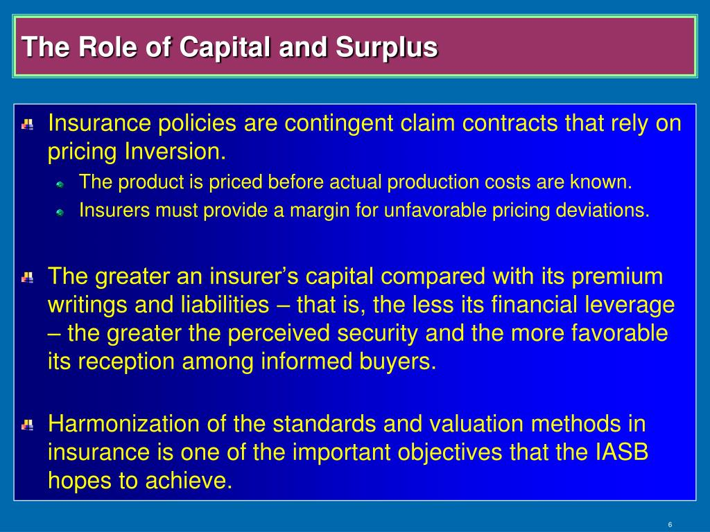 The Role of Capital and Surplus