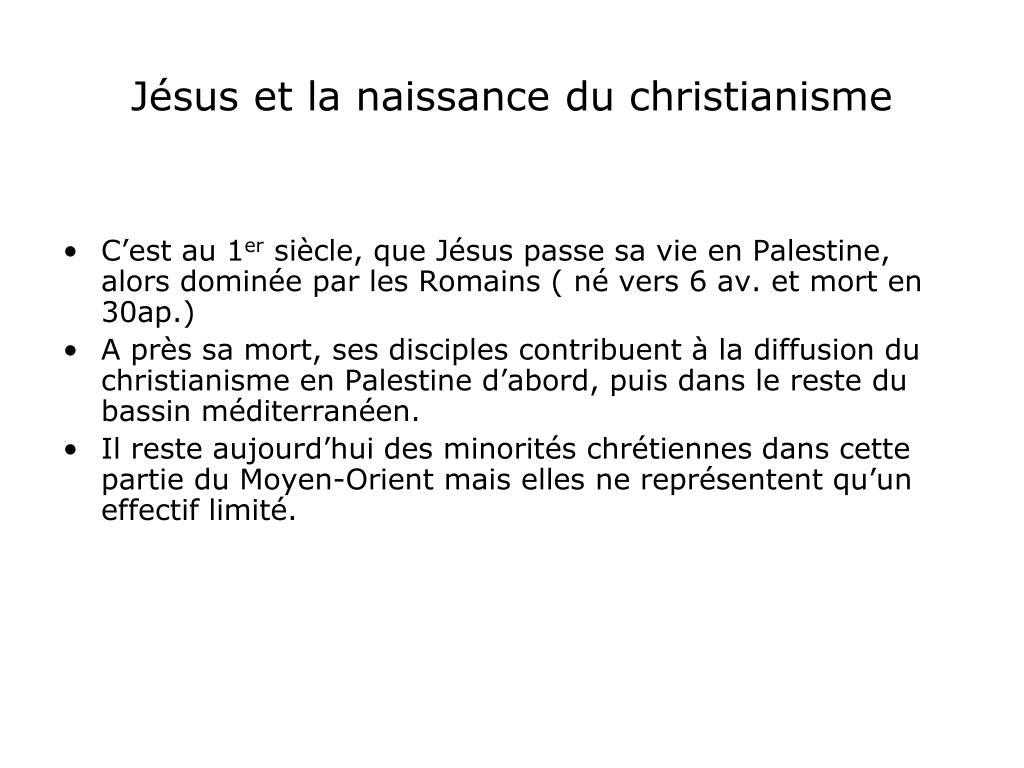 Jésus et la naissance du christianisme