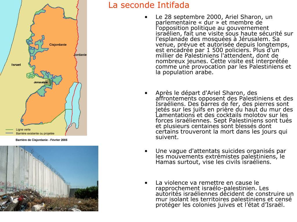 La seconde Intifada