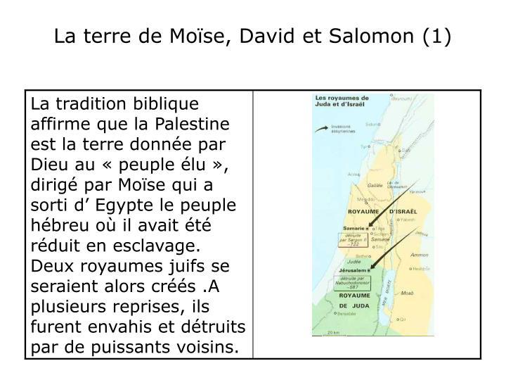 La terre de mo se david et salomon 1