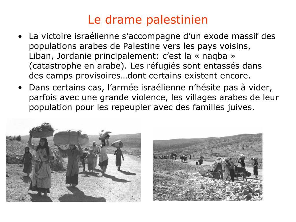 Le drame palestinien