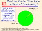 hurricane katrina claim status on storm s 2 nd anniversary