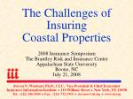 the challenges of insuring coastal properties