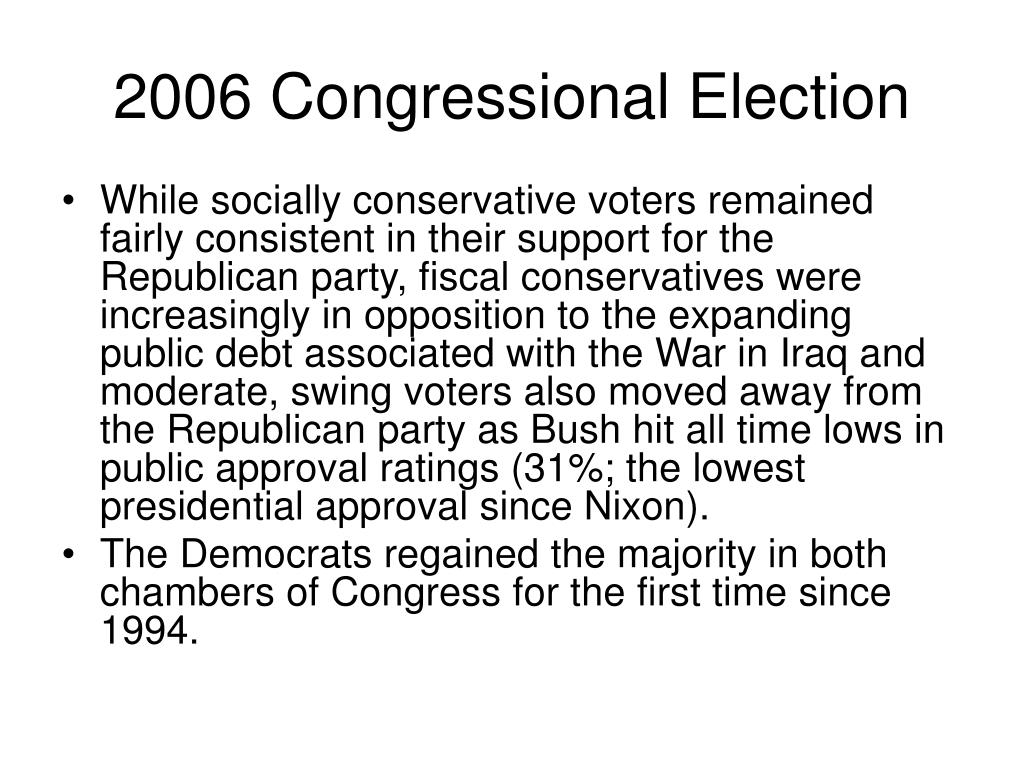 2006 Congressional Election