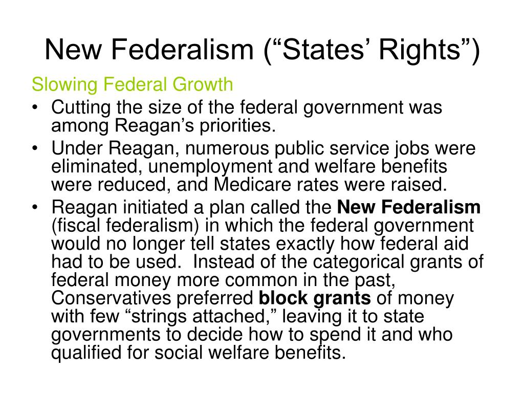 """New Federalism (""""States' Rights"""")"""