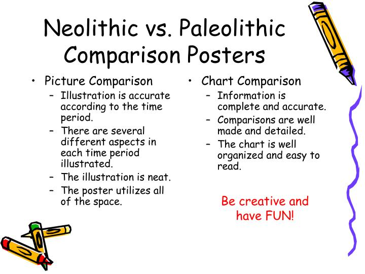 the differences between paleolithic and neolithic