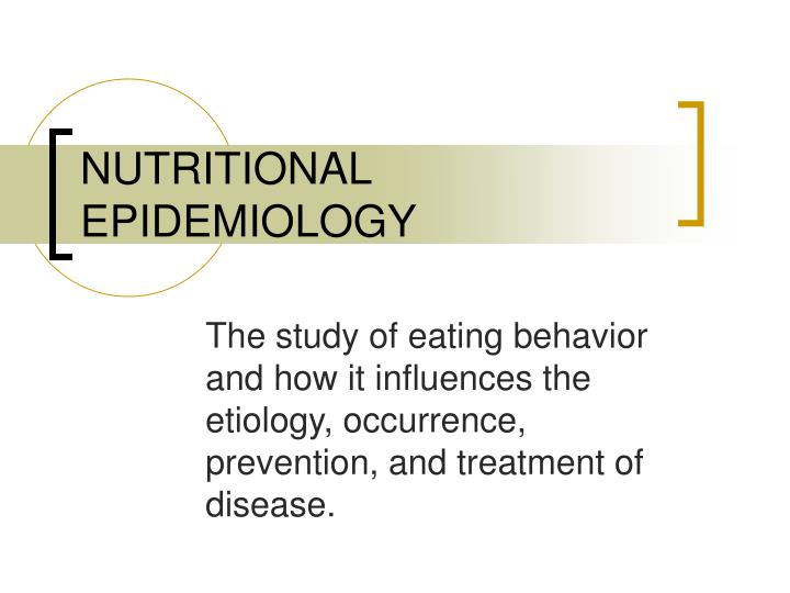 nutritional epidemiology n.