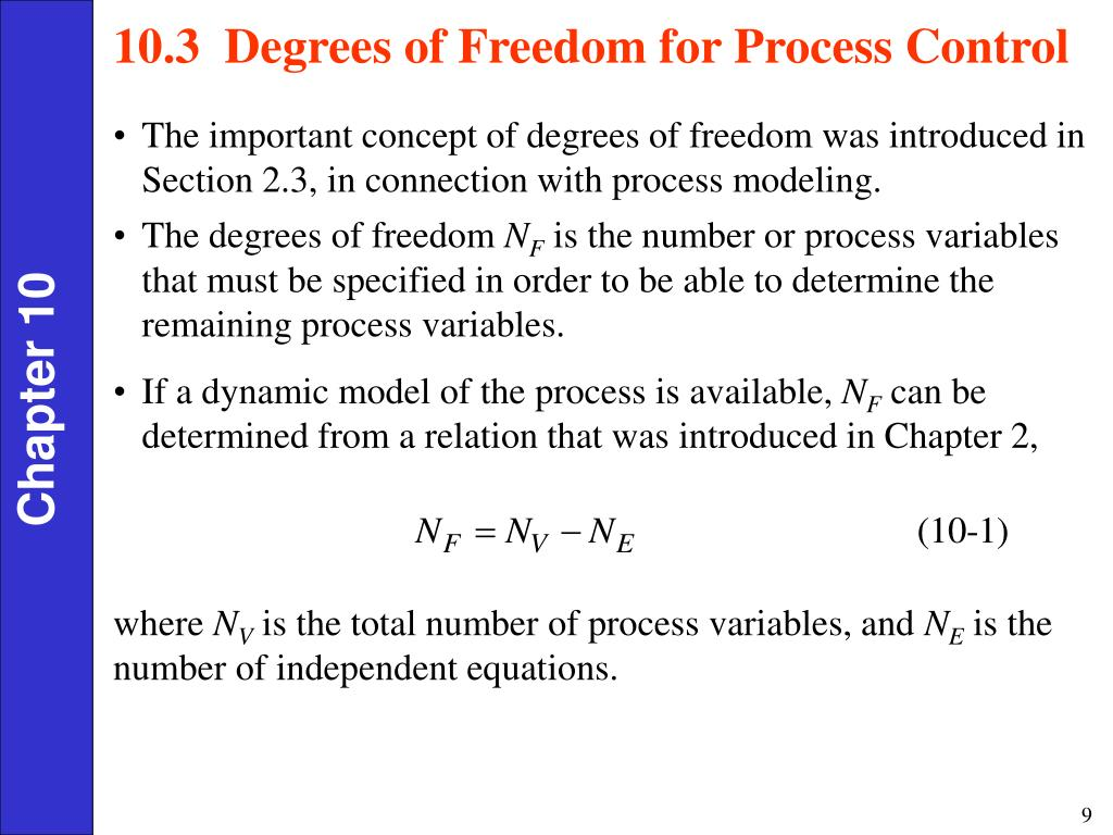 10.3  Degrees of Freedom for Process Control