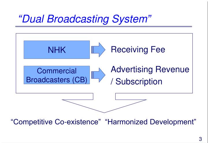 Dual broadcasting system