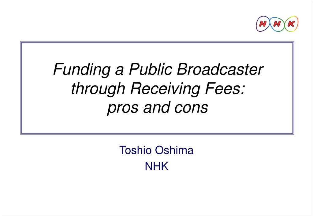 Funding a Public Broadcaster