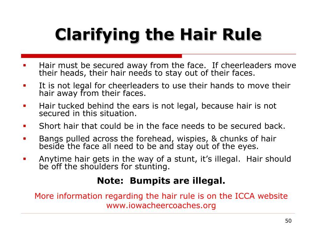 Clarifying the Hair Rule