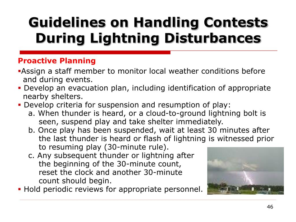 Guidelines on Handling Contests During Lightning Disturbances