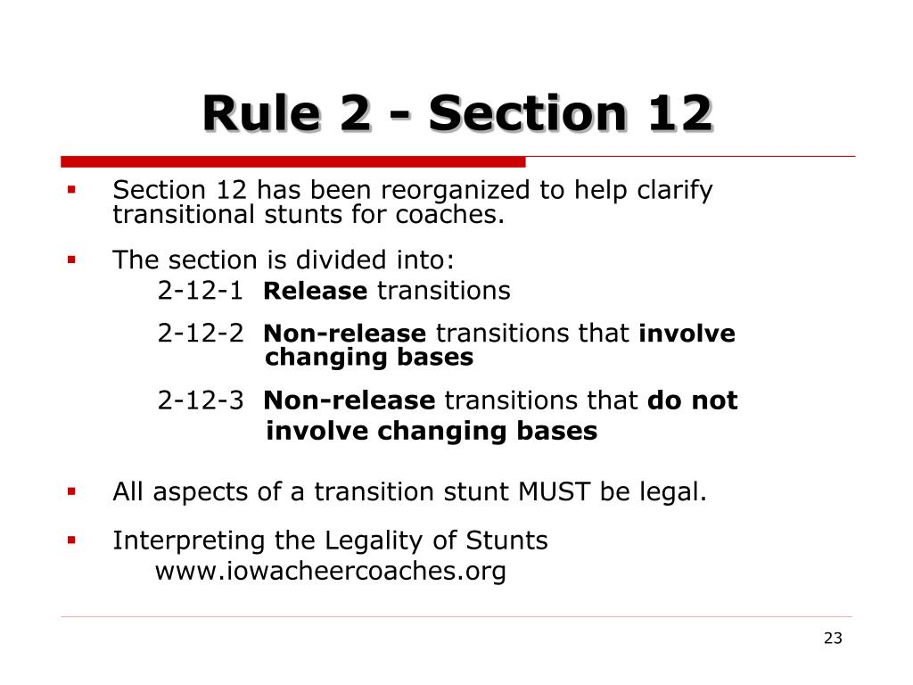 Rule 2 - Section 12