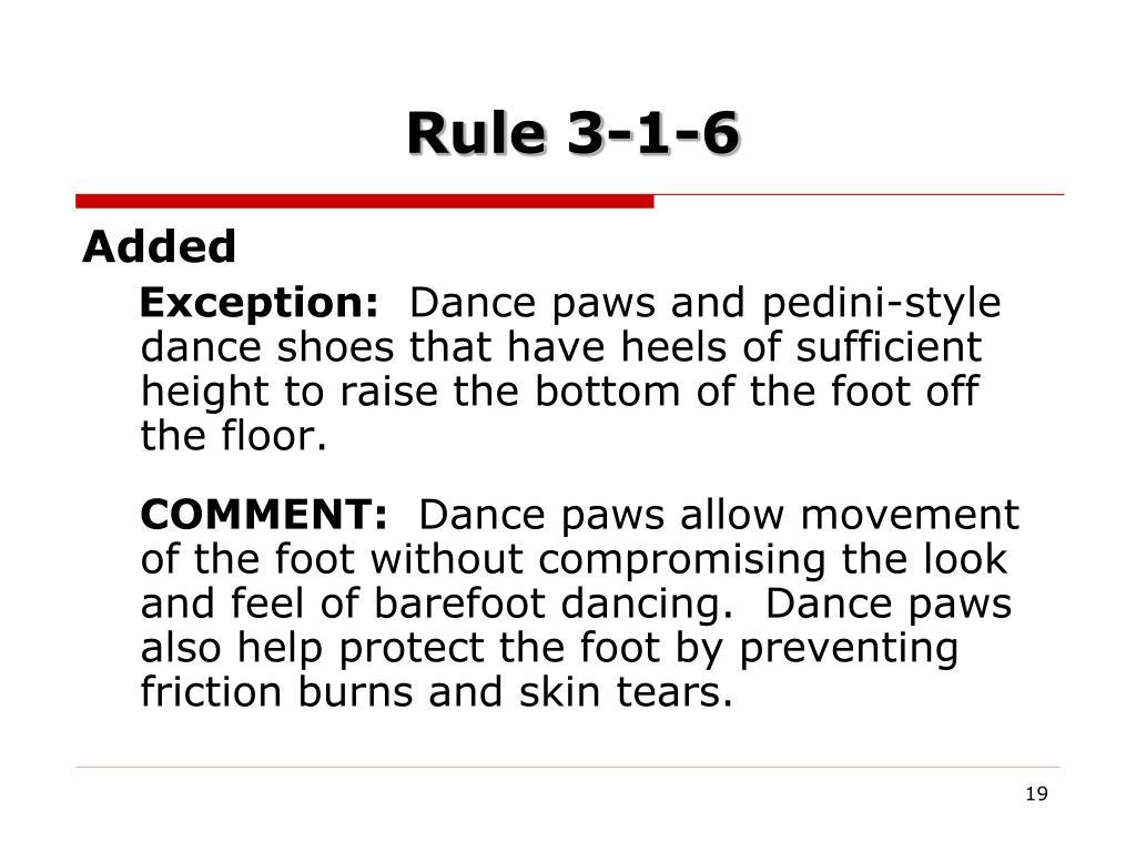 Rule 3-1-6