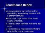 conditioned reflex