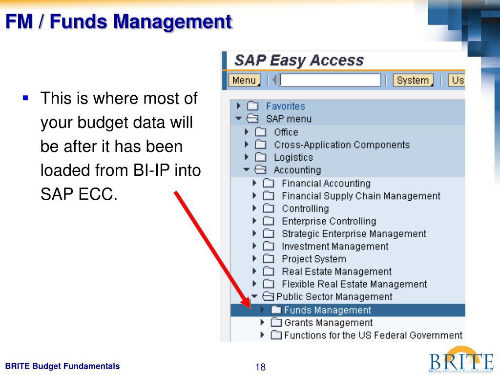 FM / Funds Management