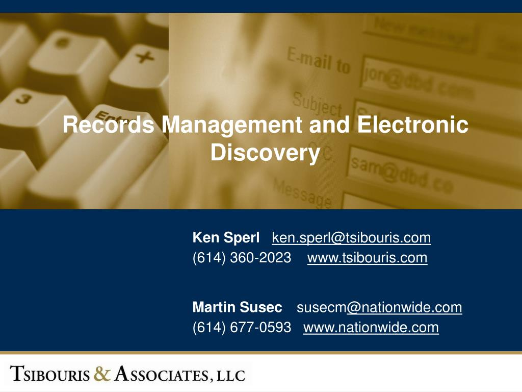 powerpoint presentation on records management