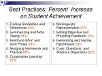 best practices percent increase on student achievement5