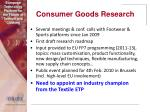 consumer goods research