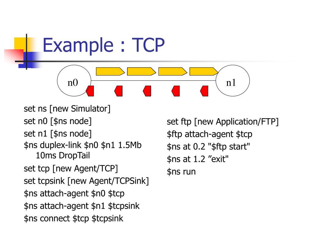 Example : TCP