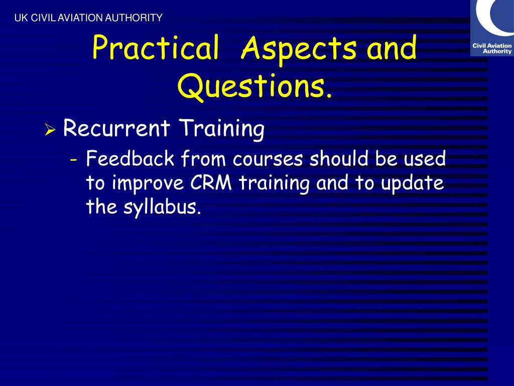 Practical  Aspects and Questions.