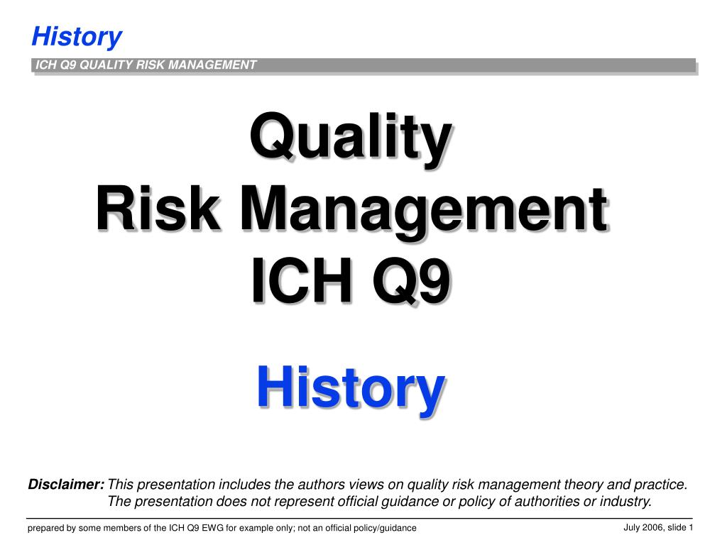 """history of quality management History of quality management 1 """" t h o s e w h o c a n n o t r e m e m b e r t h e pa s t a r e c o n d e m n e d t o r e p e at i t """" – g e o r g e s a n taya n a history of quality management 2 1450 bc – egyptian wall paintings showed evidence of."""